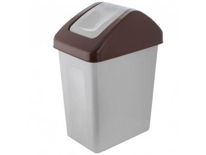 Koš na tříděný odpad BIO Brown 10 l BRANQ