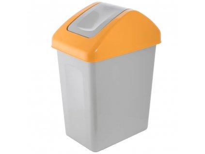 Koš na tříděný odpad PLAST Yellow 10 l BRANQ