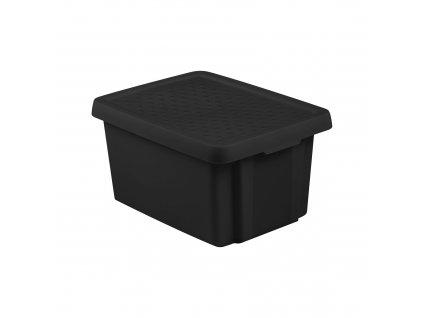 Box s víkem Essentiale Black 16 l CURVER
