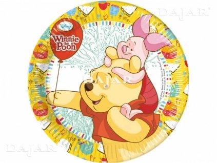 Sada 8 papírových talířů Medvídek Pú Sweet Tweets 20 cm DISNEY