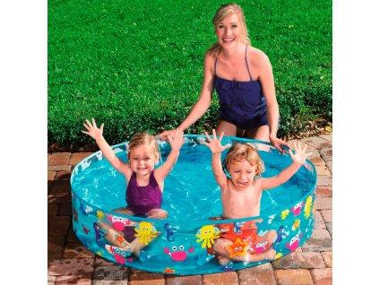Dětský nadzemní bazén Pláž 122 x 25 cm BESTWAY