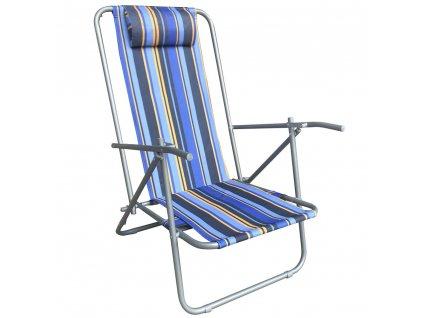 Skládací plážové lehátko / křeslo Long Stripes PATIO