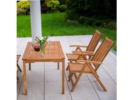 Dřevěný zahradní stůl Akacja 140 x 80 x 74 cm PATIO
