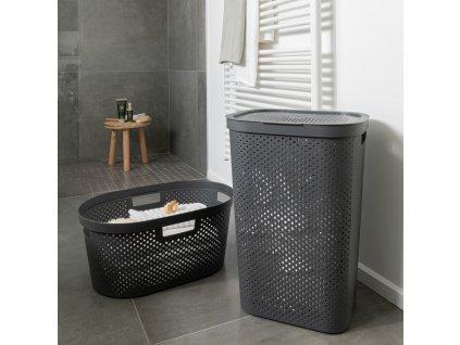 Prádelní koš Infinity 100% Recykling Eko Gray 60 l CURVER