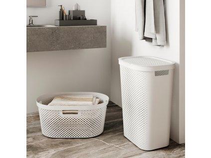 Prádelní koš Infinity 100% Recykling Eko White 60 l CURVER