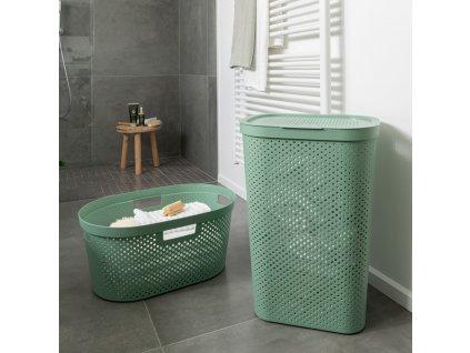 Prádelní koš Infinity 100% Recykling Eko Green 60 l CURVER