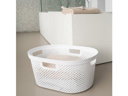 Prádelní koš Infinity 100% Recykling Eko White 40 l CURVER