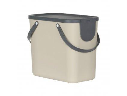 Odpadkový koš na tříděný odpad Albula Cappuccino 25 l ROTHO