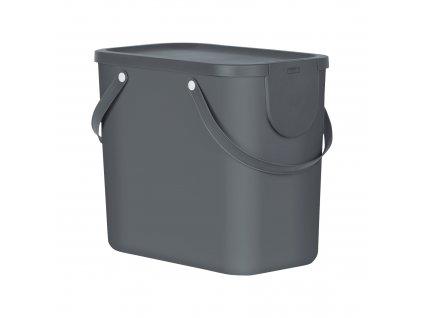 Odpadkový koš na tříděný odpad Albula Antracit 25 l ROTHO