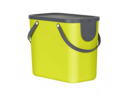 Odpadkový koš na tříděný odpad Albula Lime 25 l ROTHO