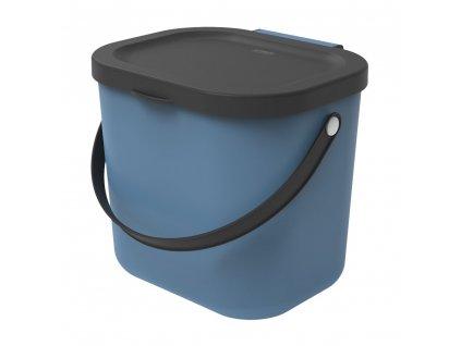 Odpadkový koš na tříděný odpad /na BIO odpad Albula Blue 6 l ROTHO