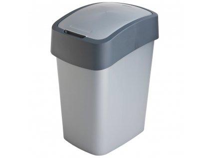 Odpadkový koš Flip Bin Silver / Grafit 25 l CURVER