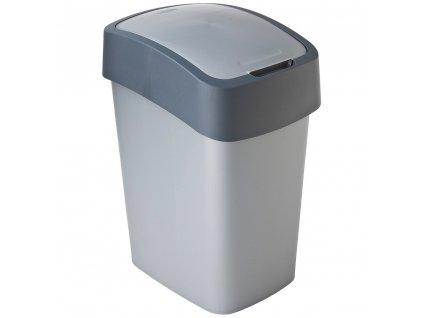 Odpadkový koš Flip Bin Silver / Grafit 10 l CURVER