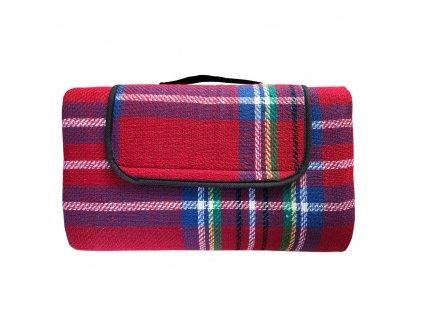 Kostkovaná deka na piknik 150 x 130 cm