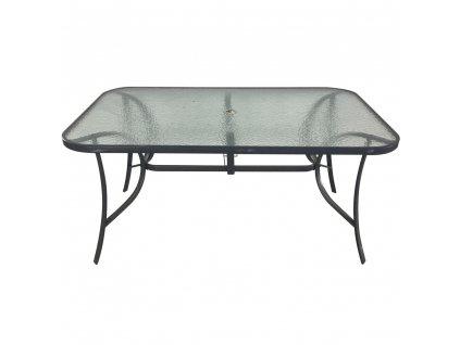 Ocelový zahradní stůl Genua 150 x 90 x 72 cm PATIO