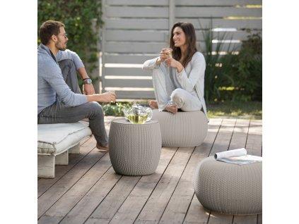 Odpočinková souprava nábytku Urban Knit Cozy Set Sand KETER