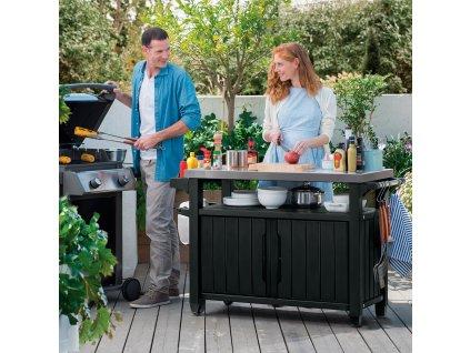 Zahradní bar / skříňka ke grillu Unity XL 207 l KETER