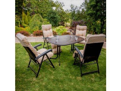Zahradní stůl Dine & Relax Ceramico / Antracit 132 x 90 cm PATIO