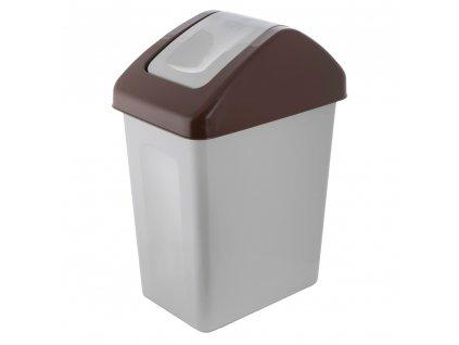Koš na tříděný odpad BIO Brown 25 l BRANQ