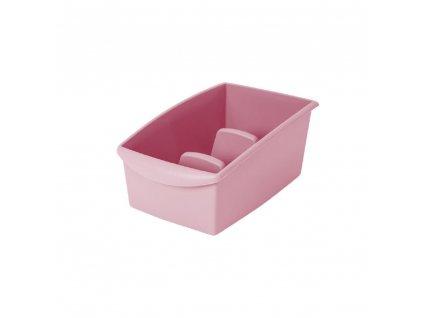 Růžová nádobka na segregaci sáčkového koření 22 x 16 x 11 cm DOMOTTI