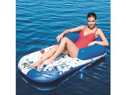 Nafukovací matrace / křeslo s opěradlem Cool Blue Lounge 161 x 84 cm BESTWAY
