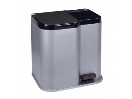 Odpadkový koš na tříděný odpad Duo Bin Black-Silver 21 l (15L + 6L)  CURVER