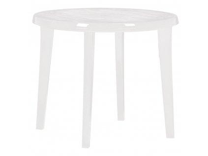 Kulatý plastový zahradní stůl Lisa White 90 cm CURVER