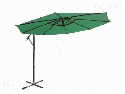 Zahradní ocelový slunečník s boční nohou Green 3 m PATIO