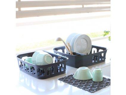 Odkapávač na nádobí Essentials antracit 39 x 39 x 10,1 cm CURVER