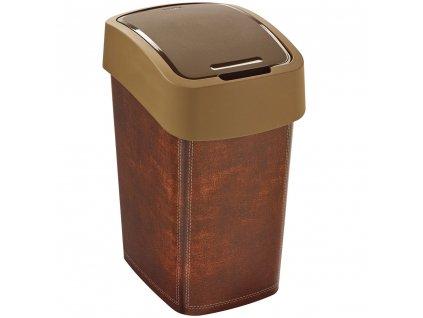 Odpadkový koš na tříděný odpad Flip Bin Leather 25 l CURVER