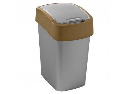 Odpadkový koš na tříděný odpad Flip Bin Silver-Brown 25 l CURVER