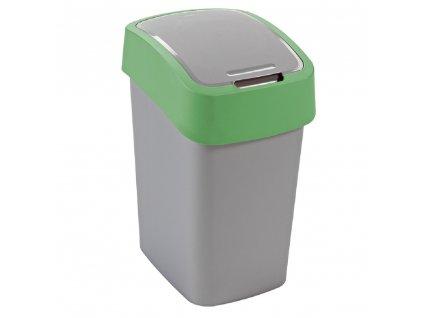 Odpadkový koš na tříděný odpad Flip Bin Silver-Green 50 l CURVER