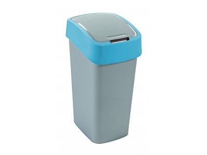 Odpadkový koš na tříděný odpad Flip Bin Silver-Blue 50 l CURVER