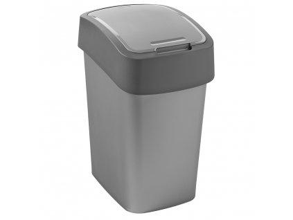 Odpadkový koš na tříděný odpad Flip Bin Silver-Grafit 50 l CURVER