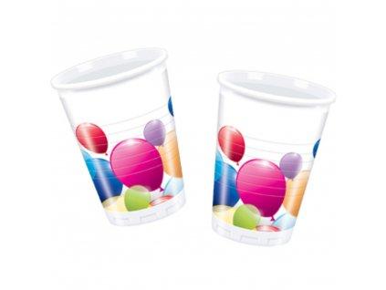 Sada 10 plastových kelímků Flying Baloons 200 ml DISNEY