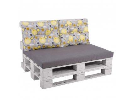 Sada sedáků na sofa z palet Megara L130-06PB PATIO