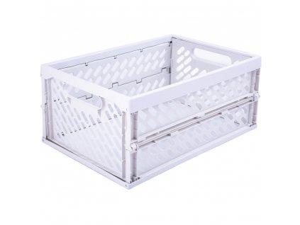 Skládací skříňka / koš White 34 x 24 x 16,8 cm PLAST TEAM