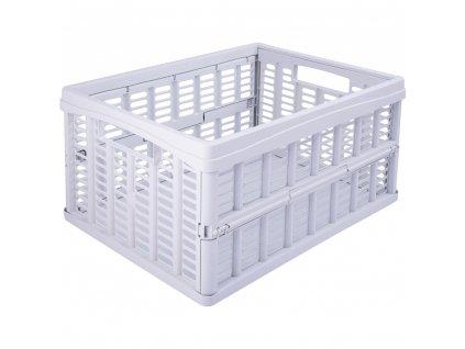 Skládací skříňka / koš White 35 x 48 x 24 cm PLAST TEAM