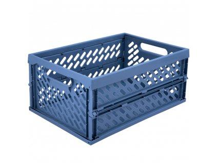 Skládací skříňka / koš Blue 34 x 24 x 16,8 cm PLAST TEAM