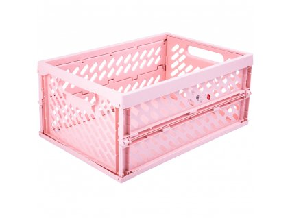 Skládací skříňka / koš Pink 34 x 24 x 16,8 cm PLAST TEAM