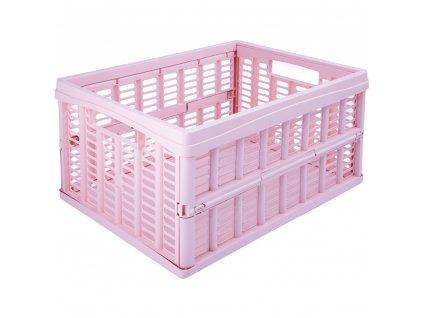 Skládací skříňka / koš Pink 35 x 48 x 24 cm PLAST TEAM
