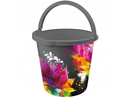 Plastový kbelík s potiskem Avangarda 10 l BRANQ