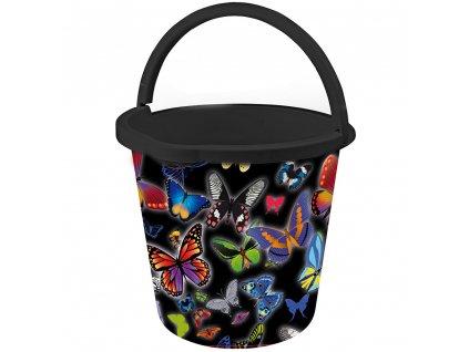 Plastový kbelík s potiskem Motýl 10 l BRANQ