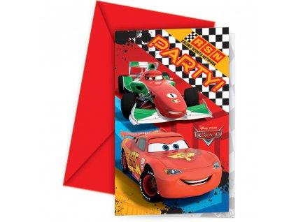 Sada 6 pozvánek s obálkou Cars DISNEY