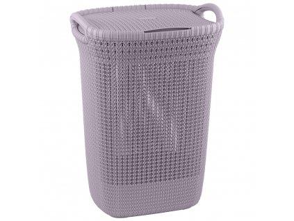 Prádelní koš Knit Light Violet 57 l CURVER