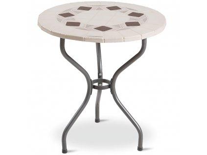 Kamenný zahradní stůl Roma černý motiv 70 cm PATIO
