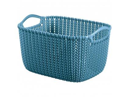 Plastový košík Knit Blue velikost S 30 x 22 cm CURVER