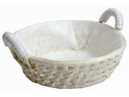 Košík z palmových listů s keramickými úchyty Palma 23 cm DOMOTTI