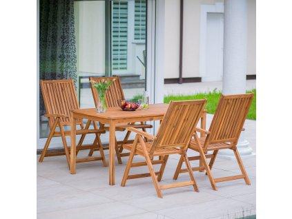 Souprava dřevěného zahradního nábytku Akacja PATIO