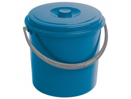 Modrý plastový kbelík s víkem 10 l CURVER